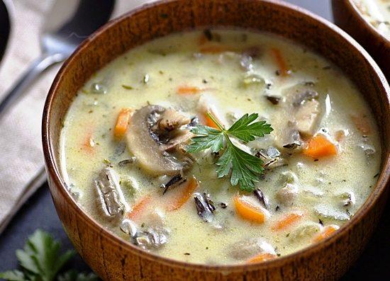 3 простых рецепта грибного супа