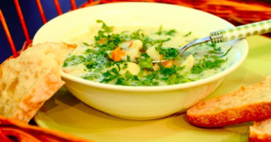 Суп из цветной капусты со сливками и петрушкой