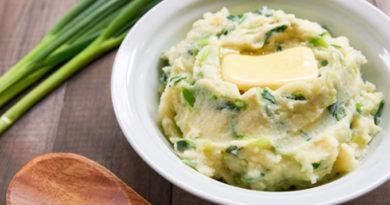 Попробуйте новый гарнир: ирландское картофельное пюре Чамп