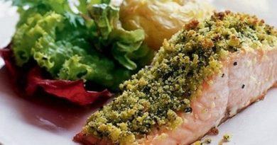 Запеченный лосось под сырной корочкой