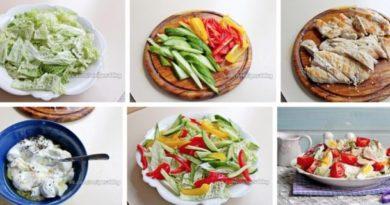Салат с куриной грудкой, овощами и йогуртом «Идеальное тело»