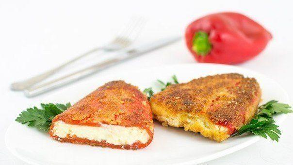 Отличная закуска — перец, фаршированный брынзой («чушка бюрек») по болгарски!