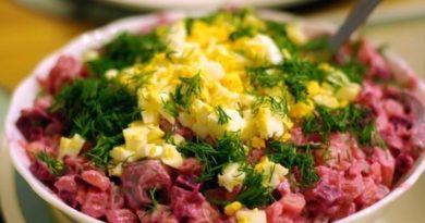 Держите рецептик классного салата — Шведский селедочный салат со свеклой
