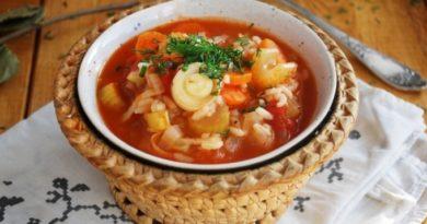Необычный слоеный суп «7 в 1»