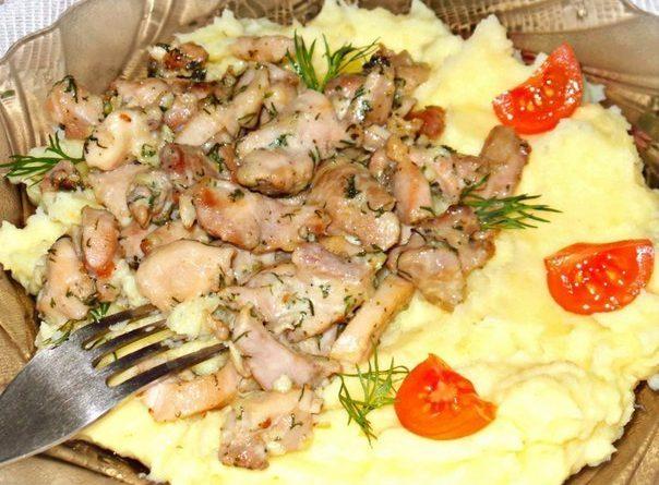 Нежное куриное филе со сливочно-чесночным вкусом и ароматом!