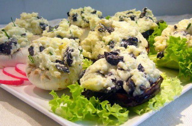 Овощные канапе с картофельно-оливковым кремом