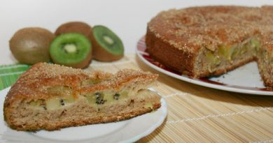 Фруктовый пирог с киви