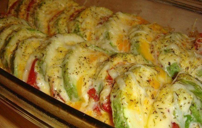 Кабачки, запеченные с помидорами и сыром — Вкусно и Полезно!