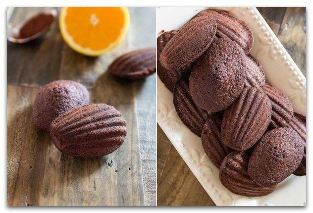 Шоколадно-апельсинные мадлен