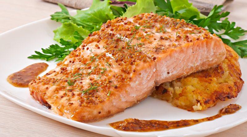 Вкуснейший запеченный лосось в медово-горчичном соусе