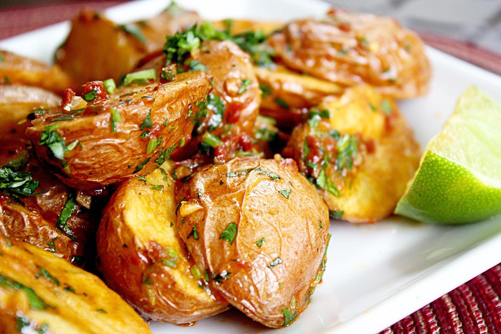 Запеченный картофель по-турецки.
