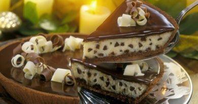 Шоколадный торт-чизкейк