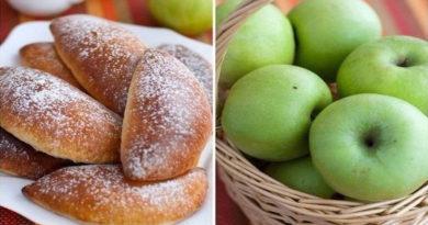 Яблочные пирожки.