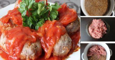 Пошаговый фото-рецепт: Гречневые котлетки без муки с томатным соусом