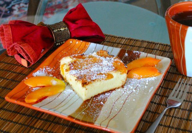 Французская манная запеканка с абрикосами.