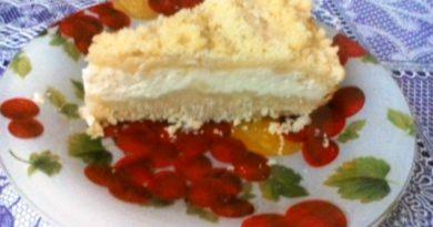 Пирог творожный за полчаса