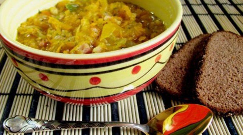 Пряный оранжевый суп с грудинкой