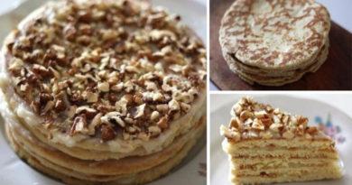 Торт на сковороде за полчаса!
