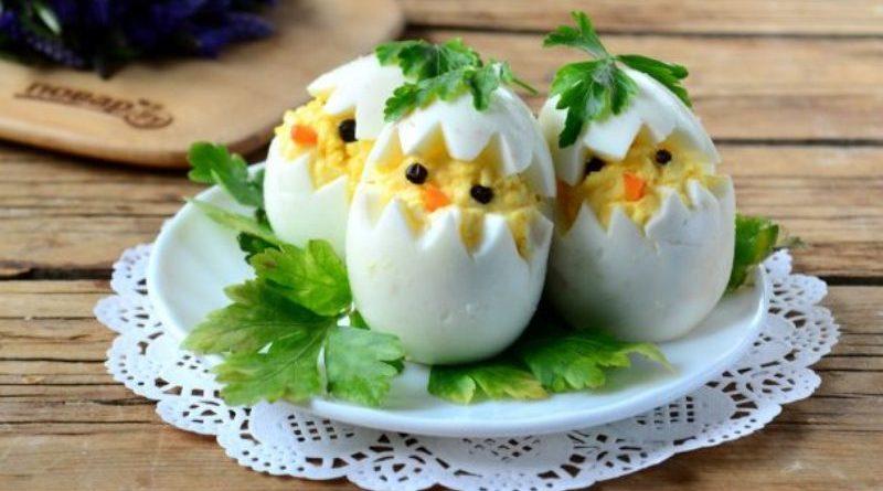 Вареные яйца на пасху Цыплята