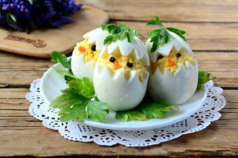 Вареные яйца на пасху Цыплята – Mir Cooking