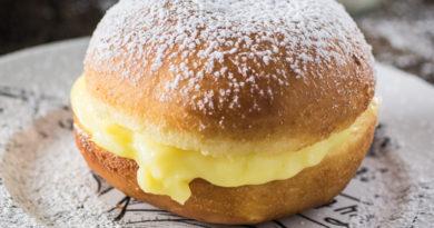 Бразильские пончики с ванильным кремом
