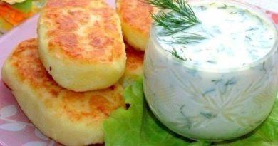 Сытные картофельные лепёшки