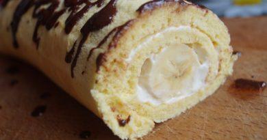 Рулет с бананом.