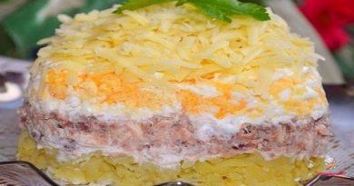 Салат с консервированной рыбкой
