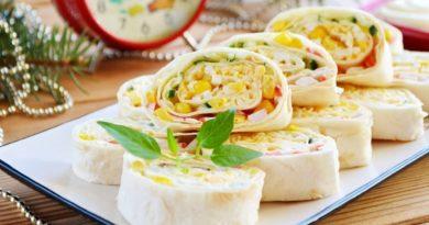 Крабовый салат в лаваше