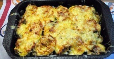 Овощное ассорти, запеченное с сыром