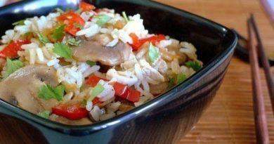 Рис жасмин с овощами и курицей