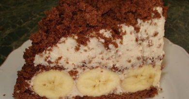 "Торт ""бананы в снегу"""