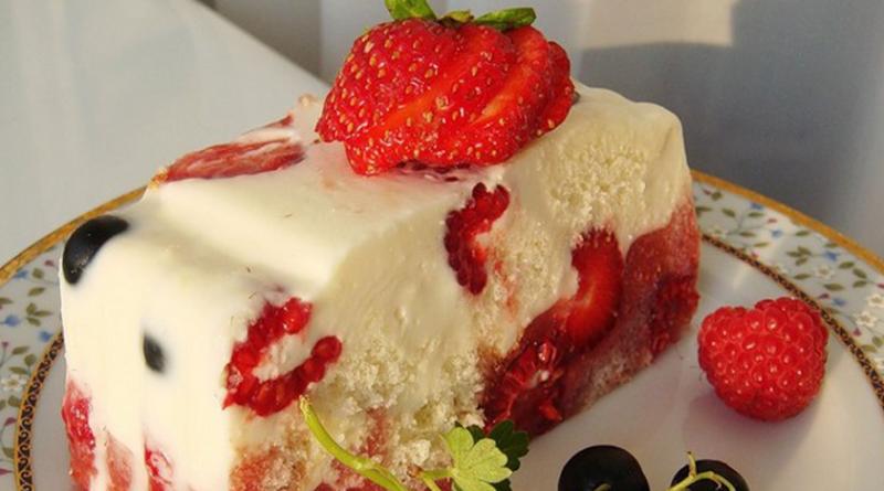 Летний низкокалорийный тортик