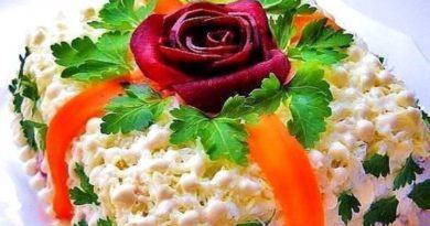 Слоеный салат Роза