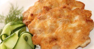 Мясные оладушки с сыром