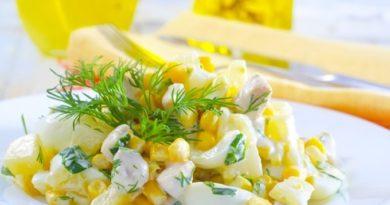 Салат из запеченной курицы с ананасами