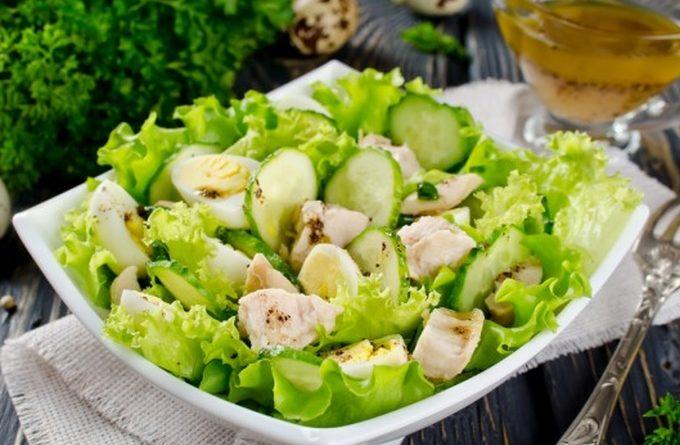 Салат из печени трески «Улетный»