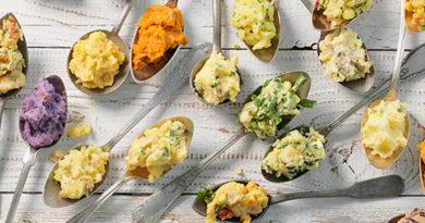 Зима прошла, добавьте красок: разноцветное картофельное пюре