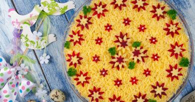 Закуска на скорую руку: овощной торт из доступных продуктов