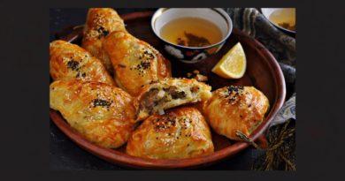 Самса на кефирном тесте с курицей и картошкой