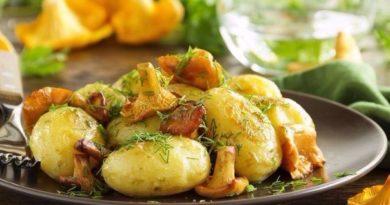 Вкусные лисички с картофелем