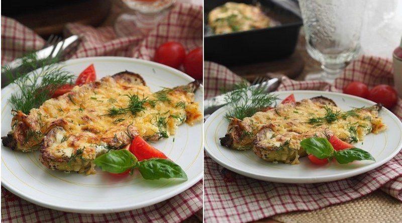 Запеченные кабачки со сметаной и сыром