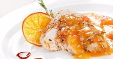 Куриная грудка, запечённая с апельсином