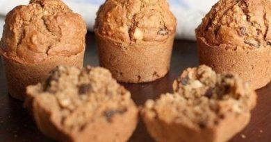 Овсяные кексы с изюмом и орехами