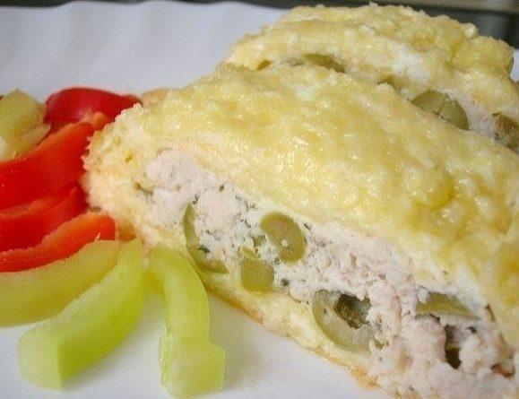 Рулет из сыра и курицы