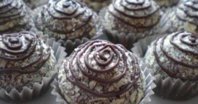 Сырно-шоколадные конфеты с вафельной крошкой