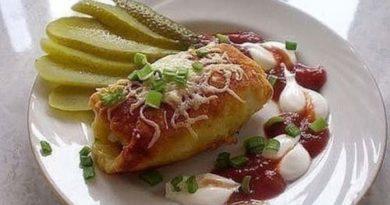 Картофельные рулетики с мясом «Деревенский обед»