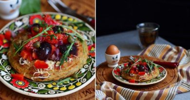 Вкусовая Бомба: Картофельные гнезда с овощным салатом