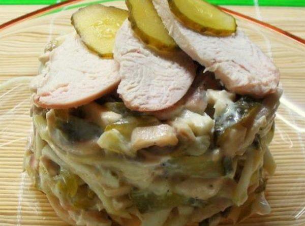 Салат с мясом цыпленка и сельдереем