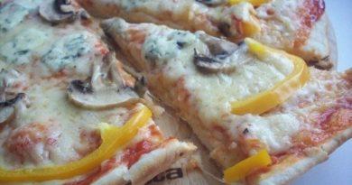 Пицца «3 сыра» с грибами — последние три раза пекла только ее!